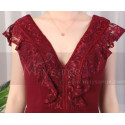 copy of Beautiful Raspberry Formal Evening Gowns With An Open Back - Ref L1974 - 06