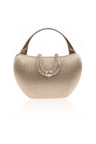 Gold evening bag with crystal closure - SAC364 #1