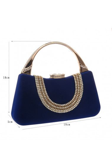 Royal Blue Evening Bag With Gold Touch - SAC366 #1