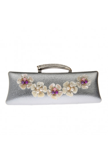 Evening clutch ivory flower and pearls - SAC367 #1