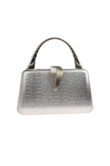 Vintage style grey evening bag a leaf - SAC372 #1