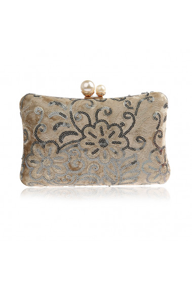 Square clutch bag with shiny pattern - SAC378 #1