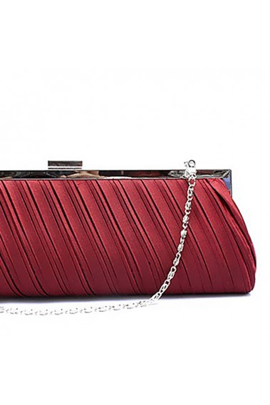 Trendy burgundy womens clutch handbags - SAC128 #1