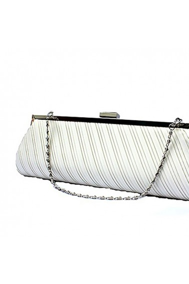 Beautiful white clutch bag with chain - SAC133 #1