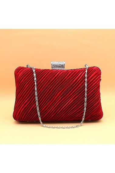 Fire Red classic clutch bag with chain - SAC145 #1