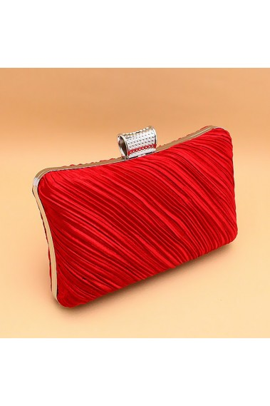 Fine pleats Red formal evening clutch - SAC146 #1