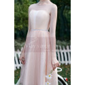 Pink Evening Gowns Civil Marriage With Rhinestones - Ref C997 - 03