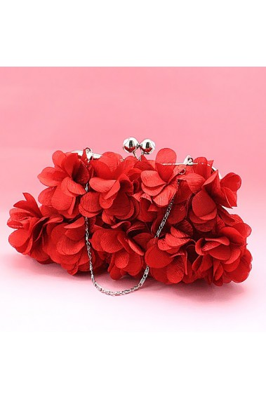 Designer clutch multiple red flowers - SAC159 #1