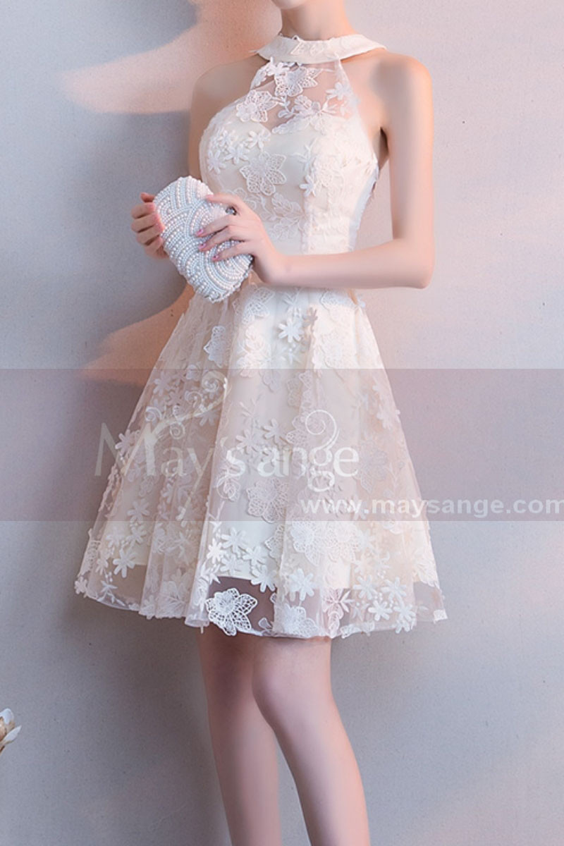 Robe Cocktail Mariage Courte Light Champagne