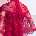Short Red Formal Gowns With Lace Cape - Ref C1928 - 03