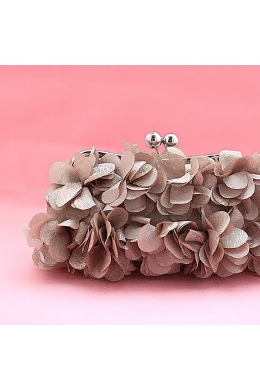 Silver pink clutch bag multiple flower - SAC166 #1