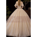Luxury Off The Shoulder Champagne Wedding Dress Ball Gown - Ref M081 - 03