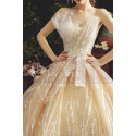 Chic Sparkling Champagne Strapless Princess Bridal Gown - Ref M080 - 02
