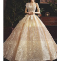 Chic Sparkling Champagne Strapless Princess Bridal Gown - Ref M080 - 03