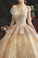 Chic Sparkling Champagne Strapless Princess Bridal Gown - Ref M080 - 04