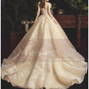 Chic Sparkling Champagne Strapless Princess Bridal Gown - Ref M080 - 05