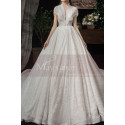 Beaded Lace Chic Wedding Wresses With Bolero-Style Top And Long Skirt - Ref M082 - 02
