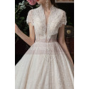 Beaded Lace Chic Wedding Wresses With Bolero-Style Top And Long Skirt - Ref M082 - 03