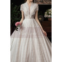 Beaded Lace Chic Wedding Wresses With Bolero-Style Top And Long Skirt - Ref M082 - 05