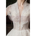 Beaded Lace Chic Wedding Wresses With Bolero-Style Top And Long Skirt - Ref M082 - 07