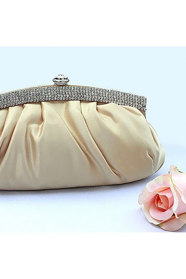 Champagne coloured evening clutch bag - SAC176 #1