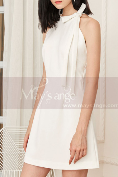 Sexy cocktail dress - Chiffon Short Backless A-Line Homecoming Dress - C1936 #1