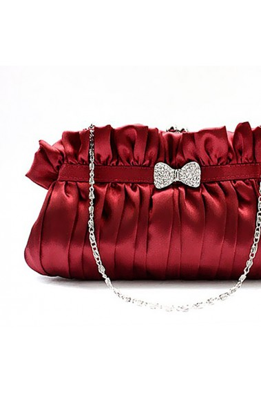 Burgundy evening bags with hand strap - SAC179 #1