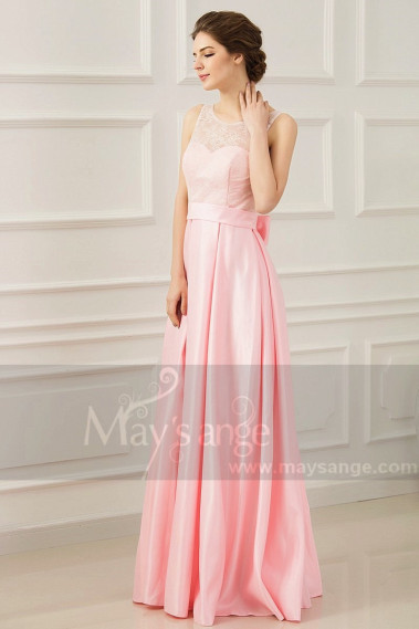 copy of Long Chiffon Evening Dress With Rhinestone Straps - L760PROMO #1