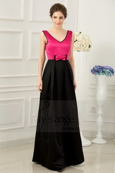 Flared evening dress - copy of Long Chiffon Evening Dress With Rhinestone Straps - L771 Promotion #1