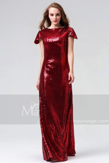 copy of Long Chiffon Evening Dress With Rhinestone Straps - L826PROMO #1