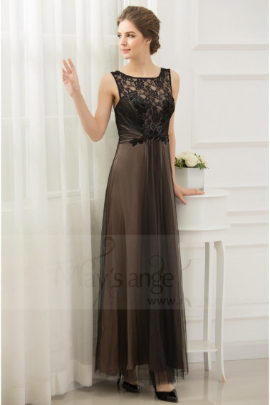Straight evening dress - copy of Long Chiffon Evening Dress With Rhinestone Straps - L652PROMO #1