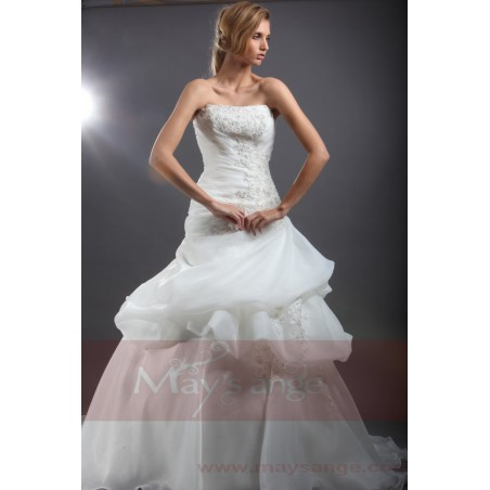 White Wedding dress bustier Cloud