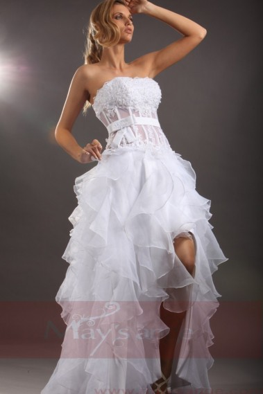 Backless Wedding Dress - Online wedding dresses Isis visible corset and glitters - M043 #1