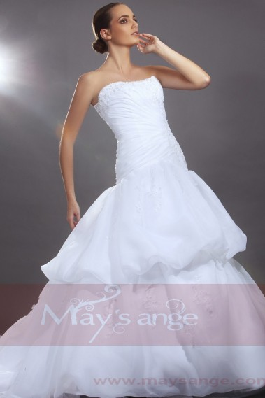 White wedding dress - White bridal wedding dresses Madrid - M050 #1