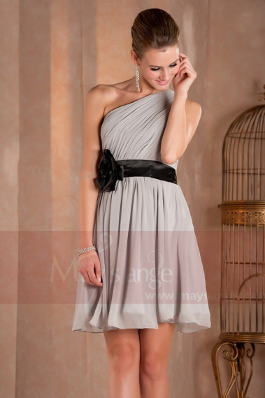 copy of Lace Black And Gray Short Party Dress