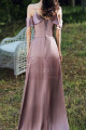 High Slit Bridesmaid Dresses Silver Pink And Straps - Ref L1203 - 03