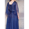 Blue Sparkly Plus Size Dresses For Women With Ruffle Sleeves - Ref L1208 - 05