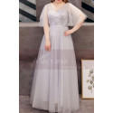 copy of Blue Sparkly Party Maxi Dress With Sleeves - Ref L1209 - 02