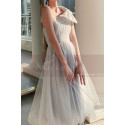 Reception Dress For Bride In White With Large Single Strap Bow - Ref L1214 - 02