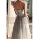 Reception Dress For Bride In White With Large Single Strap Bow - Ref L1214 - 03