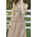 Short Bridesmaid Dresses Champagne Chic With Embroidery Top - Ref L1217 - 02