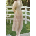 Short Bridesmaid Dresses Champagne Chic With Embroidery Top - Ref L1217 - 04