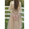 Short Bridesmaid Dresses Champagne Chic With Embroidery Top - Ref L1217 - 05