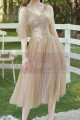 Short Bridesmaid Dresses Champagne Chic With Embroidery Top - Ref L1217 - 06