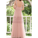 Pink Tulle Floor Length Party dresses With Bow Belt - Ref L1221 - 03