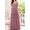Formal Evening Gowns Pink Tulle With Sequin Top - Ref L1226 - 03