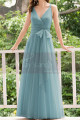 Dusty Blue Bridesmaid Dresses Floor Length Without Sleeves - Ref L1230 - 02