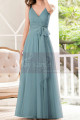 Dusty Blue Bridesmaid Dresses Floor Length Without Sleeves - Ref L1230 - 03