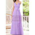Lilac Bridesmaid Dresses Tulle Long With Bow Belt - Ref L1231 - 03