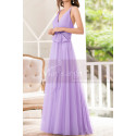 Lilac Bridesmaid Dresses Tulle Long With Bow Belt - Ref L1231 - 04